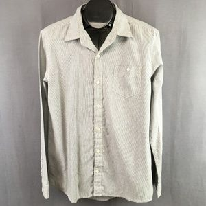 Chor Shirt Size Large Gray Striped Mens Button